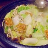 鶏団子の塩ちゃんこ鍋