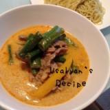 具沢山♡ピリ辛豆乳味噌スープの冷しつけ麺
