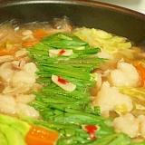 ぷりトロ!簡単絶品モツ鍋(しょうゆ味)