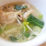 野菜と餃子の鶏がらスープ