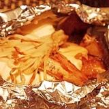 簡単ヘルシー、豆腐とキノコのホイル焼き