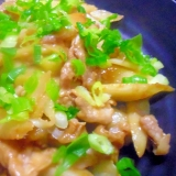 豚肉とウドの味噌炒め