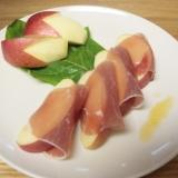 ヾ(℃゜)意外!!りんごと生ハムサラダ