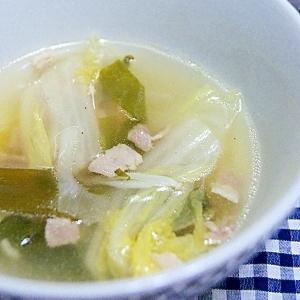 コンソメで中華っぽいスープ