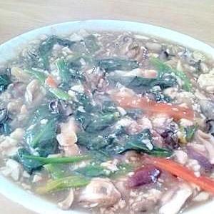 牡蛎と豆腐の中華風あんかけ(?)