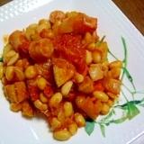 ソーセージde★かぼちゃと大豆のトマト煮