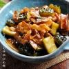 夏野菜の定番ゴーヤを使って、「ゴーヤとお肉の炒め煮」献立