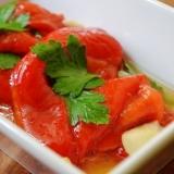 トルコ料理★とろとろ赤ピーマンのマリネ