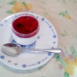 レアチーズ風ババロア・ブルーベリーソース