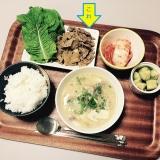 【韓国】肉みそサンチュ巻