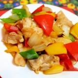 鶏肉と彩り野菜炒め