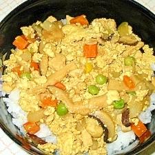 カレー豆腐丼
