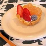 ミックス粉で簡単!丸ごと食べれるパンケーキカップ♪