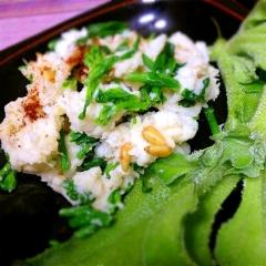 菜の花と長芋の風味バツグン和風ポテトサラダ