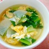大根と小松菜の和風たまごスープ