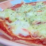 トルティーヤで♪ポテトサラダのピザ