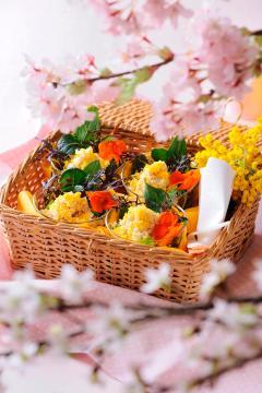 ワンランク上のお花見料理 ミモザ仕立てのヴェリーヌ