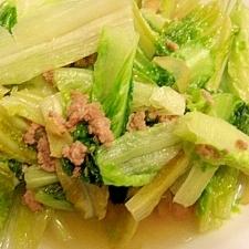 レタスと豚挽肉の炒め