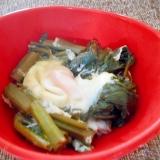 空芯菜と卵の煮物
