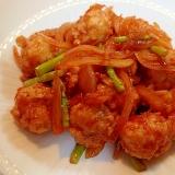 ❤鶏団子のケチャップ醤油炒め❤