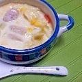 野菜タップリ、豆乳スープ