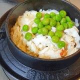 おこげが旨い! 「タラバガニと筍の釜飯」