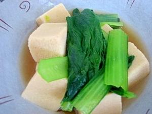 小松菜と高野豆腐の煮物