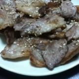 牛カルビの塩生姜焼き