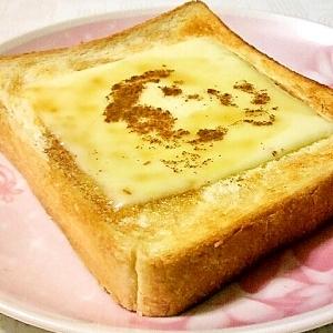 モッツァレラとメープルのトースト