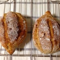 ◎HBでラクラク◎胡桃とイチジクのパン
