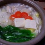 下仁田ねぎと鶏の水炊き