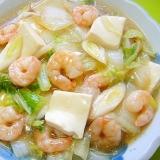 白菜えび豆腐の中華煮