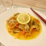 豚肉とたっぷり野菜の和風レモンソース