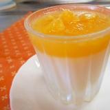 冷たいおやつ☆甘酒ゼリーオレンジジュース添え☆