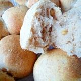 小麦ふすまとクルミのふんわりパン