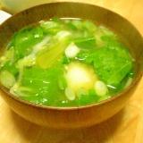 じゃがいも・ねぎ・野沢菜の味噌汁
