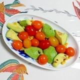 スイートコーンとミニトマトのサラダ~♫