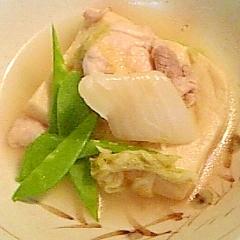 高野豆腐と鶏肉の煮物