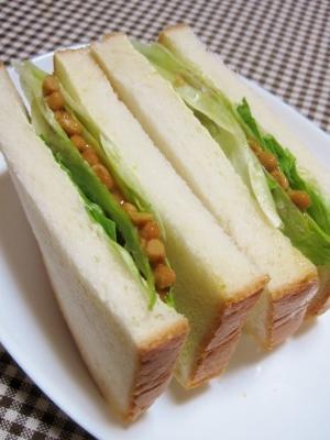 納豆だってサンドイッチ♪