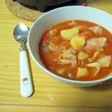 簡単♪トマトジュースで作るミネストローネ