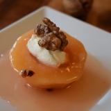 トルコのお菓子★カイマクのせマルメロの甘煮