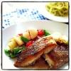 フライパンでカリッと「白身魚のポワレ」献立