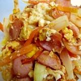 卵と玉ねぎのケチャップ炒め
