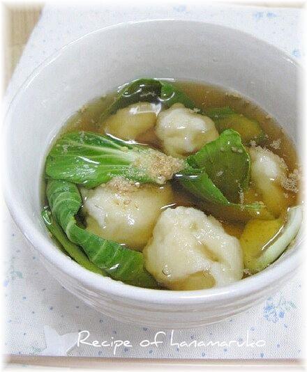 懐かしい母の味\u201d小松菜のすいとん汁\u201d