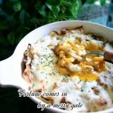 糖質制限低糖質★キャベツと半熟卵の♡チーズ焼き♡