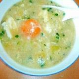 煮込みラーメンのスープの残りで雑炊