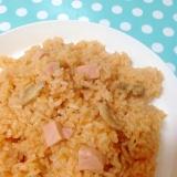 舞茸&魚肉ソーセージのケチャップライス☆