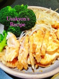 糖質制限★鶏胸肉の生姜焼き 温野菜と共に
