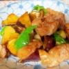 ご飯がすすむ「さつまいもと鶏肉の甘辛炒め」献立