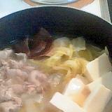 ダシとり簡単♪ 水炊き鍋